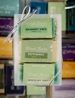 3 Bar Mini Soap Gift Set: Spearmint Scrub/Peppermint/Rosemary Mint