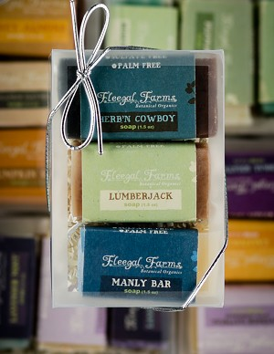 3 Bar Mini Soap Gift Set: Herb'N Cowboy/Lumberjack/Manly Bar